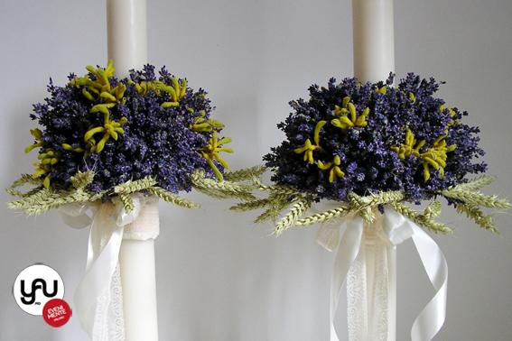 yau flori+yau evenimente_lumanari de cununie scurte cu lavanda proaspata si grau
