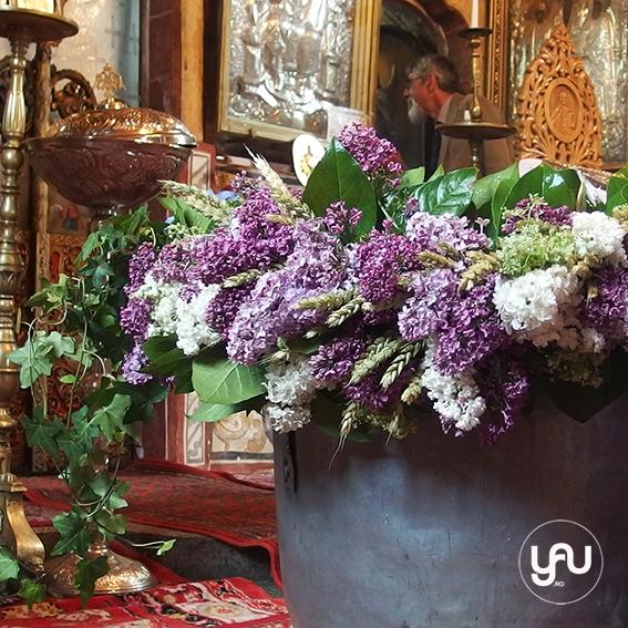 yau concept_yau flowers_yau events_ghirlanda pentru cristelnita cu liliac