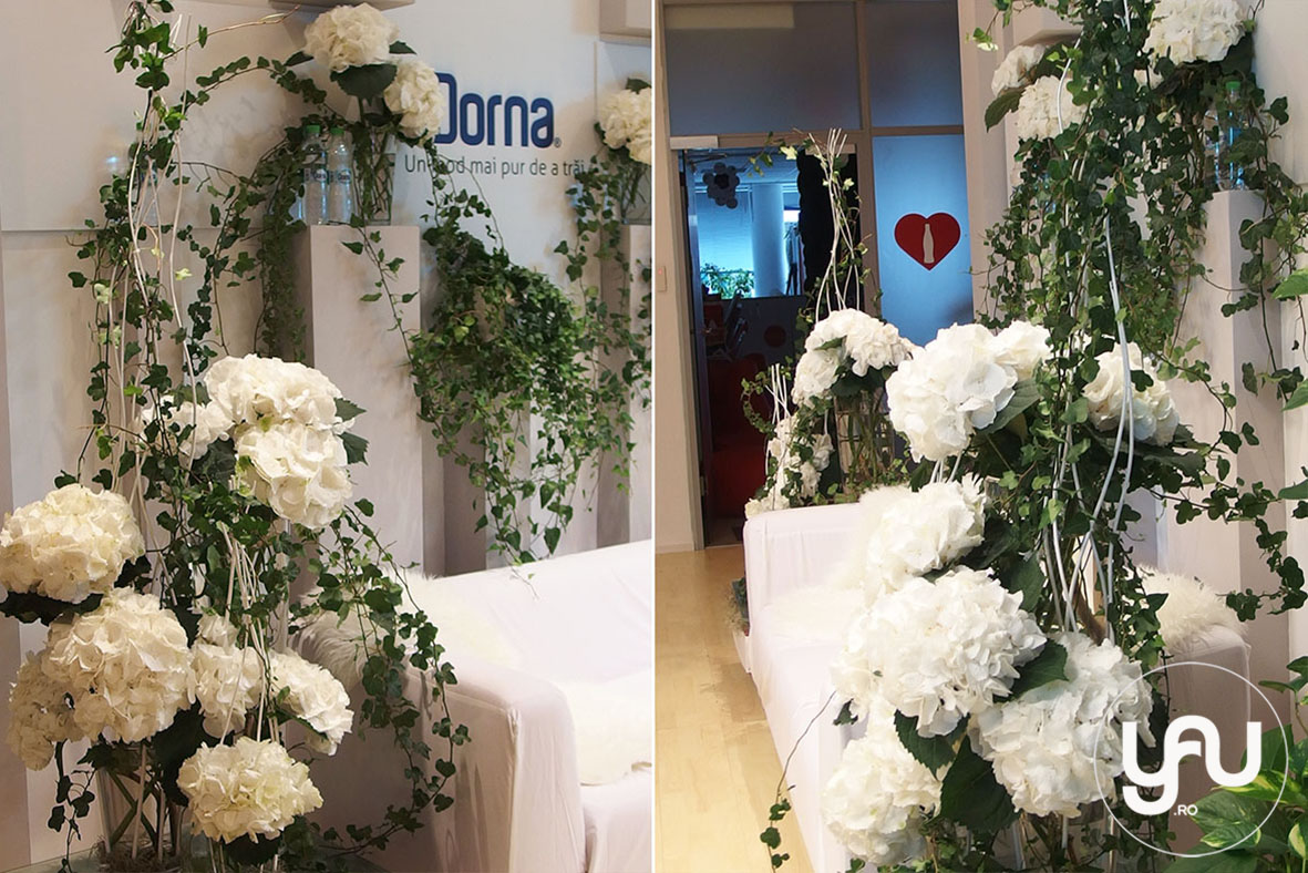 yau events 2015_cranjul cu flori albe de la birou - pentru DORNA ROMANIA _ orhidee_hortensii (3)